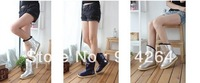 New Women's Metallic Color Mid-calf Winter Warm Snow Boots Flats Shoes Slip On /free shipping +trackingnumber