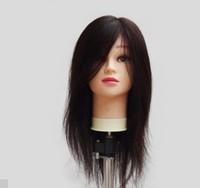 "14"" Natural Black High Quality 100% Human Remy Hair Practice Head Mannequin Head Training head"