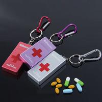 2013 fashion Cross first aid kit portable metal pillaring hanging travel carry small kit