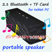 Portable 2.1 Bluetooth Speaker for ipad Tablets PC Support TF Card & Wireless Bluetooth & Micphone Smartphone Speaker