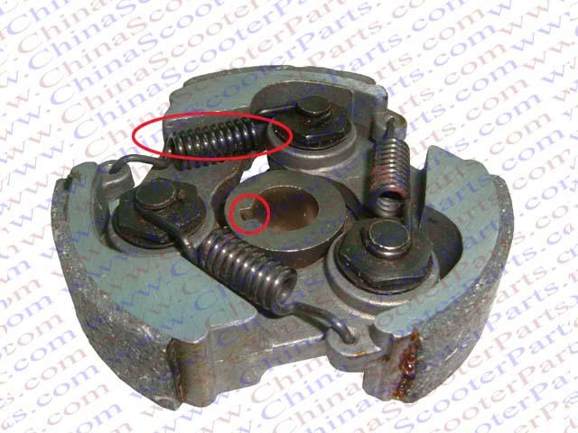 Complete 47cc 49cc Clutch Key Way Mini Moto Pocket Dirt Pit Bike ATV Go Kart Parts(Chi