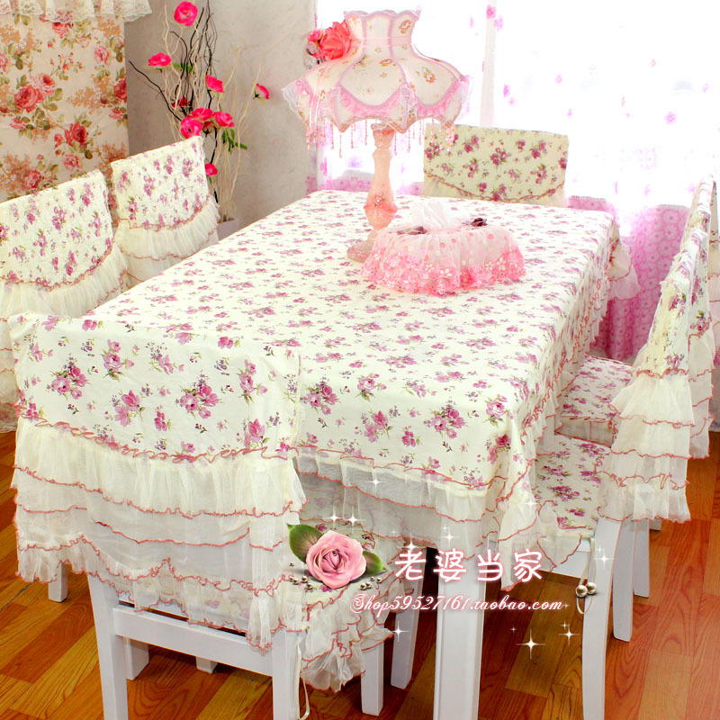 Fabric lace table cloth tablecloth dining table cloth gremial chair cover cushion qarnet odontoglossum(China (Mainland))