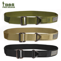 Free soldier tactical belt military rescure training blackhawk belt rappelling army belt free shipping tan green black color
