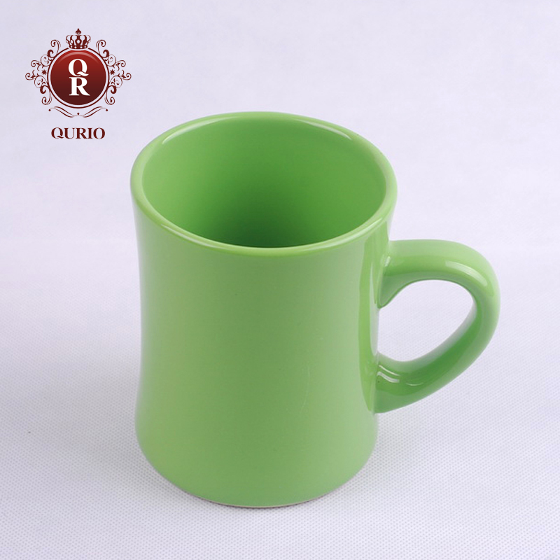 Children&#39;s ceramic cup Coffee cup Green straight mug(China (Mainland))