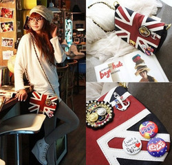 new influx of people must have the Union Jack Messenger handbags British flag packets A106(China (Mainland))