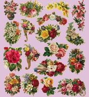 Tb8272 victoria vintage flower  diy handmade cloth fabric heat press