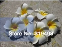 Free shipping 100 pcs Fashion  Elegant 6cm Artificial Simulation PE Flowers Frangipani Flower DIY Headware Hairclips Jewelry