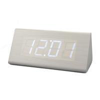 3 alarum voice alarm clock brief led wood clock lazy alarm clock led clock electronic clock