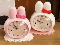 Child cartoon alarm clock rabbit mute alarm clock lazy alarm clock talking clock