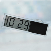 Gift car electronic clock suction cup hd translucent electronic clock car transparent zeitgeber wall clock