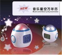 Music projection clock child alarm clock child alarm clock lounged electronic clock luminous clock mute