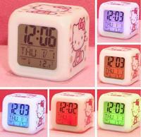 Bosons alarm clock kt cat alarm clock color changing alarm clock colorful calendar alarm clock