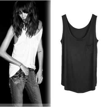 Fashion summer women's 2013 brief loose solid color Tank vest t-shirt modal spaghetti strap basic vest