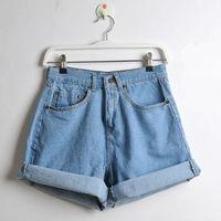 Fashion women's jeans high waist plus size loose shorts denim ladies' jeans for woman pants women jeans 2013 brand Wholesale