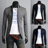 2013 Mens Casual TOP Design Sexy Slim FIT Blazers Coats Suit Jackets 3color Size M,L,XL,XXL,XXXL Freeshipping