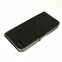 1PC Bulk Top Quality Crazy Horse Luxury Leather Case for Iphone 5 5g Cover for iphone5 Cell Phone Accessories+HK Free Shipping