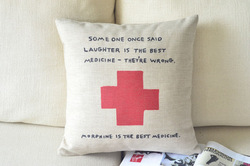 Best medicine,cushion cover,seat cushion,Creative personality cushion, Home Decor(China (Mainland))