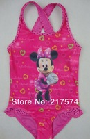 minnie swimming Dress free shipping swimming bathers swiming wear two piece swimwear swimsuits swimmers  for 2013 Summer