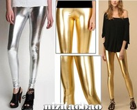 Free shipping,Fashion women expensive metal gold and silver fashion bling legging
