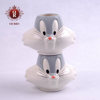 Wholesale new 2013 white shape of Mickey Mouse's hand-painted ceramic children Cup