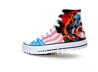 Captain America High Top sneakers for men/women Hand Painted canvas shoes