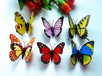 100 pcs 3D butterfly magnet room fridge decorative decals size 9 cm