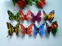 100pcs 3D decorative applique butterfly fridge magnet room size 7 cm