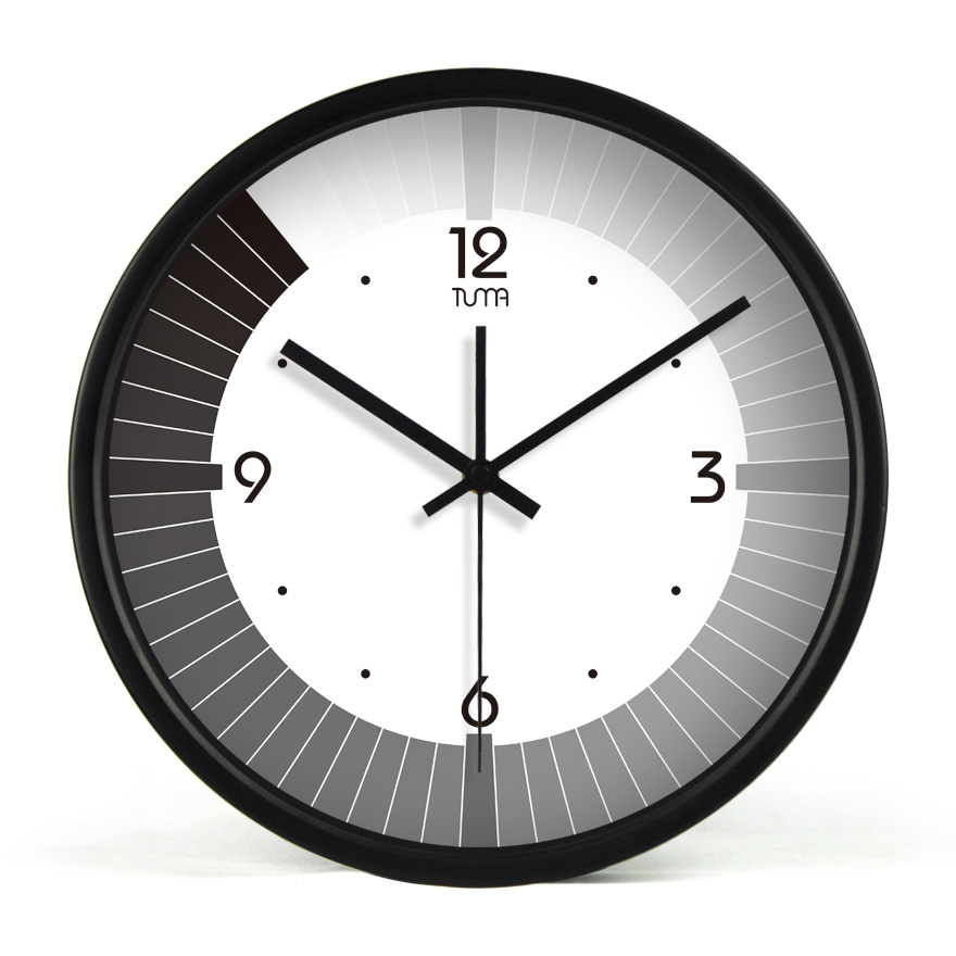 FREE SHIPPING NEW Tuma big wall clock black-and-white gradient movement living room clock pocket watch quartz clock 103(China (Mainland))