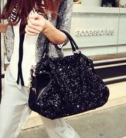 2014  bags fashion paillette women's handbag formal chain bags lady's handbag free shipping