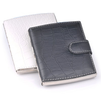 Zobo cigarette case leather gemini ultra-thin 10 black and white exquisite smoke clip