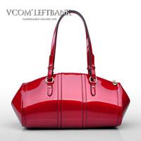 Cowhide women's handbag 2013 spring fashion women's bags japanned leather patent leather handbag
