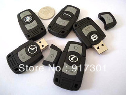New Novelty Remote Audi Car Key Shape USB Flash Drive Pen Drive Memory Stick with original logo(it was hidden in the picture)(China (Mainland))