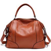2013 brief wear-resistant first layer of cowhide women's handbag genuine leather women's handbag women's handbag messenger bag
