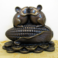 Carving Work of Art Year of the rat lucky copper