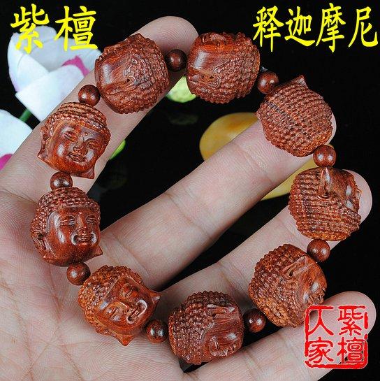 Lobular rosewood beads bracelet manichaeist buddha head this 15-20mm male Women(China (Mainland))