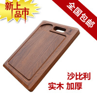 EMS Free shippng High quality Retail or Wholesale Cutting boards Board woodenChopping block Thick  Sapele  Wood Cutting board