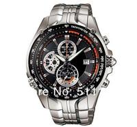 HK post Free shipping Brand CAS* EF-543D-1AV waterproof watch men EF-543D-1A stainless steel watches Waterproof 100 M 543D
