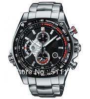 New EFE-503D-1AV EFE-503D 503D Chronograph Sport Men's Black Dial Wristwatch