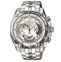 New EF-550RBSP-7AV EF-550RBSP-7A Men's Chronograph Sport Watch EF-550RBSP 550RBSP White Dial With 1/1 second stopwatch