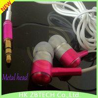 "Wallytech Free shipping 10PC/LOT Metal Earphone For MP3 ipod Touch IPad shuffle Fashionable ""L"" In-Ear earphone headphone MP3"