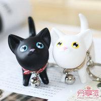 Cat cartoon kate couple key chain key hang key chain