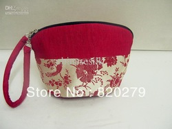 High End Purses Handbags Clutch Bag Silk Cotton Stitching Wrist Strap Purse 10pcs/lot mix color Free(China (Mainland))