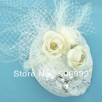 Wholesale jewelry  royal hat Newest  Fascinator Headwear Hats with lace edge and flower shape HA496 free shipping