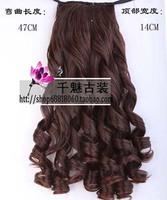 Wig wave long curl hair ponytail bride wig bride style bride hair maker 68