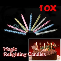 Magic Relighting Candles Birthday Tricky Toy Gift Eternal Candles Blowing(China (Mainland))