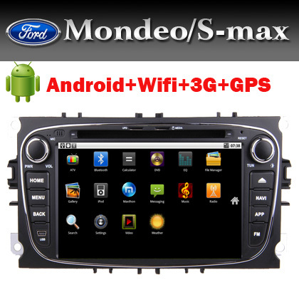 Car DVD Android for Ford Mondeo S-Max Focuswith 3G Wifi GPS Bluetooth Radio TV Ipod USB SD DVD Canbus + Free Shipping(China (Mainland))