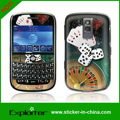 10 pcs/lot Colorful DIY Vinyl Sticker Skin For Blackberry bold 9000 cell phone Plastic Cover Skin decals(China (Mainland))