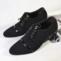 Free shipping 2013 spring and autumn fashion european pointed toe fashion leather shoes men's casual shoes