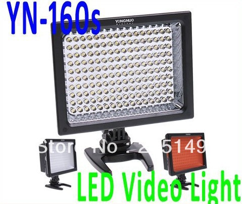 YONGNUO YN-160s LED Video Light Camera Light Photo Lighting Bulb 5500K(China (Mainland))