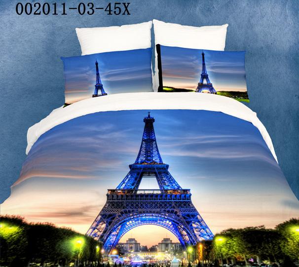 Shop popular eiffel tower comforter from china aliexpress for Housse de couette paris tour eiffel